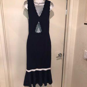 Chelsea28 scallop midi dress